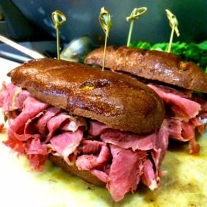 Fat Tug IPA Pastrami Sandwich